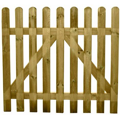 Cancela jardin madera papillon 100x100 cm.