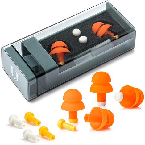 Cancelacion de ruido tapones para los oidos de sonido bloqueo auricular de reduccion de ruido reutilizable con la caja de almacenamiento, tapon de reduccion de ruido