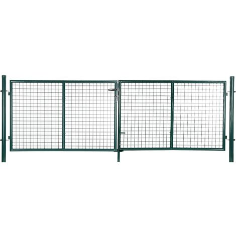 Cancelletto Giardino 150 x 320cm Cancello Pedonale Barriera Modulabile GGD300G