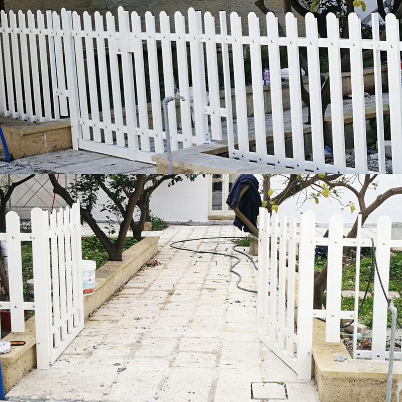 Misure Standard Cancello A Due Ante.Cancello A Doghe Easy A 2 Ante Senza Serratura H 580 X L 1440