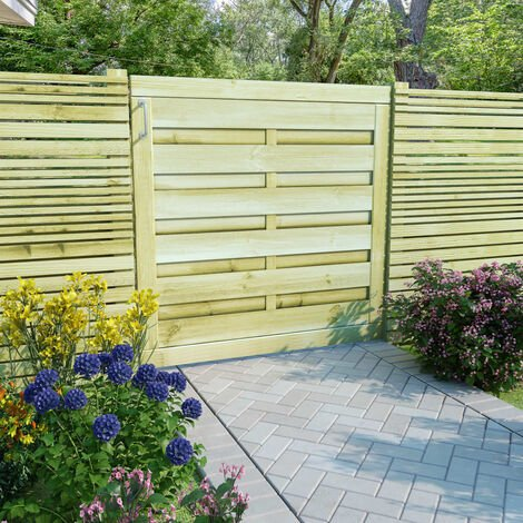 Cancello da Giardino in Legno FSC Impregnato 100x100 cm Verde