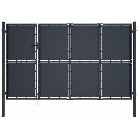 Cancello di Recinzione in Acciaio 350x150 cm Antracite