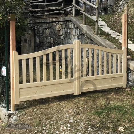 CANCELLO DOPPIO GAND in legno di pino 300 x 130 cm