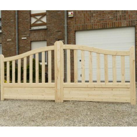 CANCELLO DOPPIO GAND in legno di pino 400 x 130 cm
