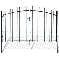 Cancello Doppio in Metallo Verniciato con Frecce 300x225 cm