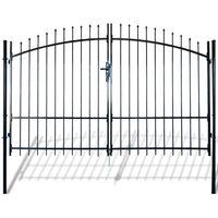 Cancello Doppio in Metallo Verniciato con Frecce 300x248 cm
