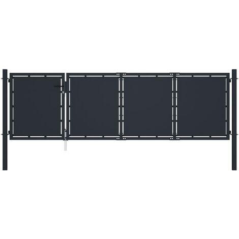 Cancello per Giardino in Acciaio 350x75 cm Antracite
