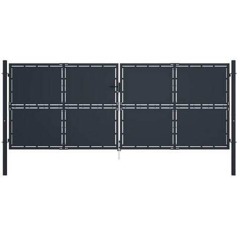 Cancello per Giardino in Acciaio 400x150 cm Antracite