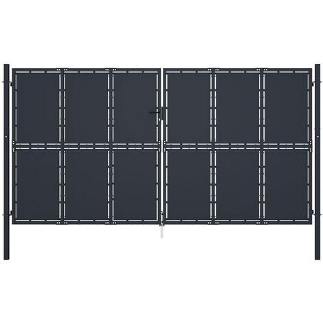Cancello per Giardino in Acciaio 400x175 cm Antracite