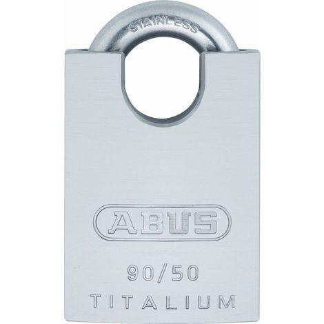 Candado aluminio arco acero inox/cilindro extraible 50mm