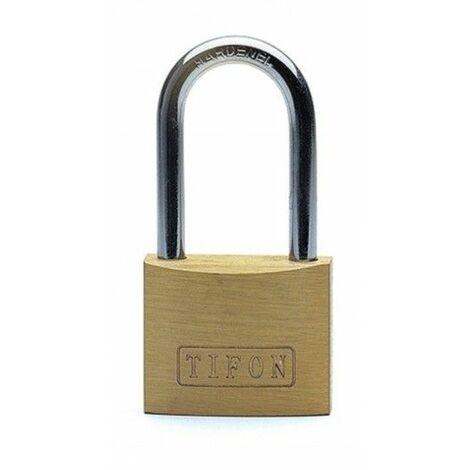 Candado Seguridad 25Mm Arco Largo Laton Tifon Ifam