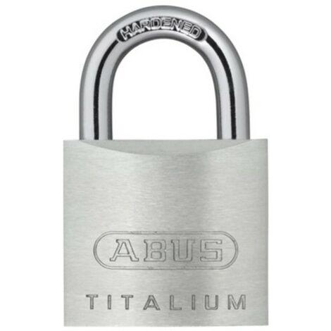 Candado Seguridad 40Mm Arco Extra Largo Aluminio Titalium Abus