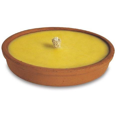Candela alla citronella in contenitore di terracotta 14x3,5h cm - VERDELOOK 2050/1