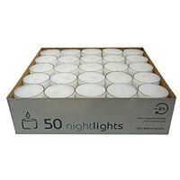 Candela lumino h2,5cm bianco pz.50