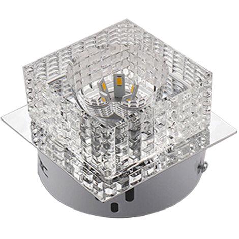 Candelabro Cristal Brillante Colgante de Luz Lujo Moderna Lámpara de Techo Cubo LED para Sala de Estar Dormitorio Oficina Blanco Frío