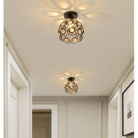 Candelabro de Cristal Moderno 260 MM Luz de Techo Retro Lámpara de Techo Vintage para Sala de Estar, Baño, Dormitorio, Comedor