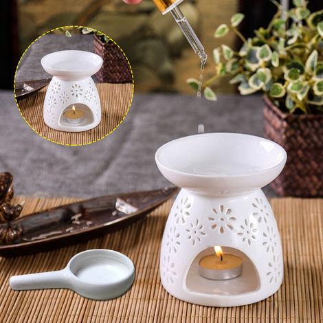 Candle Tray + Censer Ceramic Incense Holder Marguerite Ciseler Design