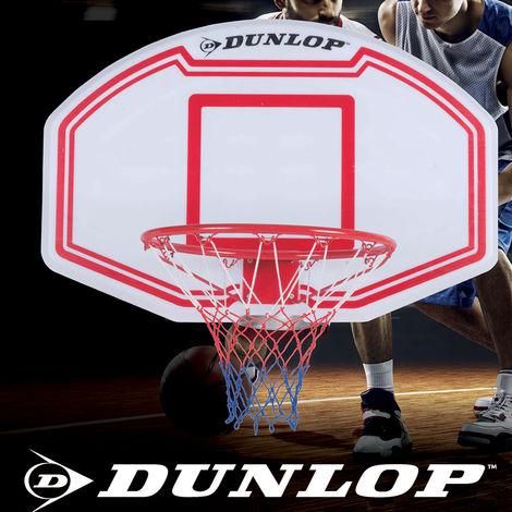 5910b1120561 Canestro Basket Con Tabellone Regolamentare 90x60 cm + Kit Montaggio Dunlop