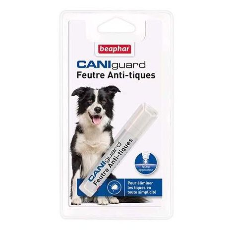Caniguard, feutre anti-tiques pour chien à la perméthrine - 10 ml