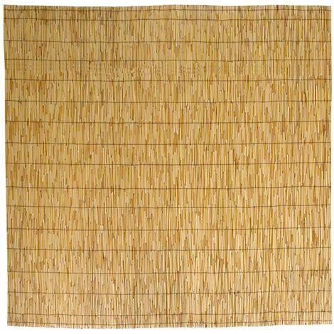 Canisse bambou, Tapis d'ombrage en roseau de bambou 200x300 cm 2x3 m pour la couverture de la clôture du jardin, balustrade du balcon