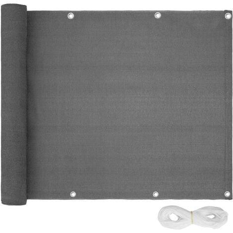 Canisse brise-vue pour balcon gris 75 cm - Gris
