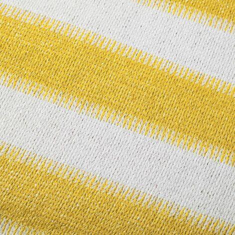 Canisse brise-vue pour balcon jaune/blanc 75 cm - Blanc