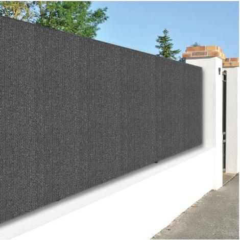 Canisse de jardin en polyéthylène 300g/m² coloris gris anthracite - Dim : 1,20 m x 10 m