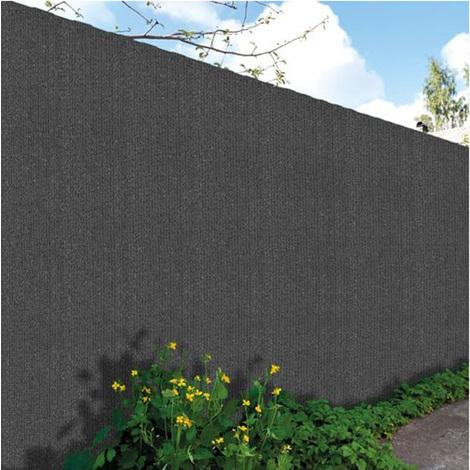 Canisse de jardin en polyéthylène 300g/m² coloris gris anthracite - Dim : 2,00 m x 10 m