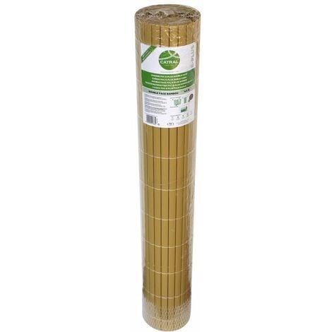 Canisse double face en plastique bambou 3 x 2