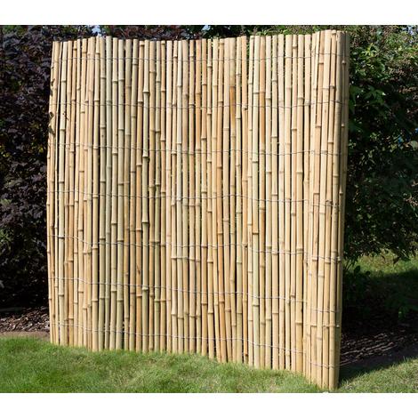 De Haute Qualite Canisse En Bambou Double Face Coloris Brun Naturel   Dim : H 150 ? 200 X