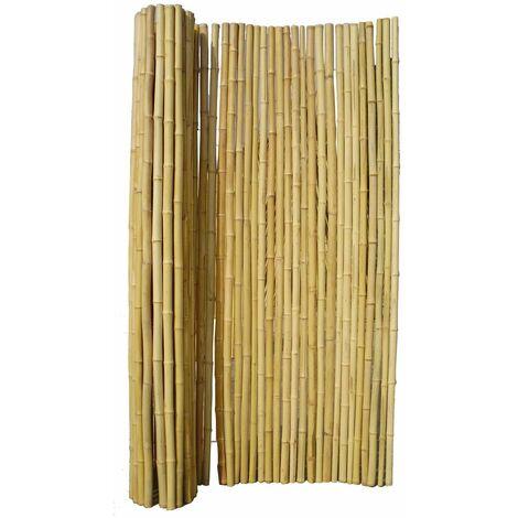 Canisse en bambou rond 2x1 m