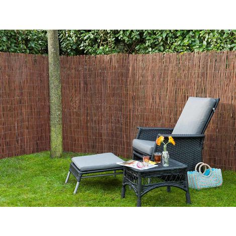 Canisse en osier naturel 1,5 x 3 m - Nature
