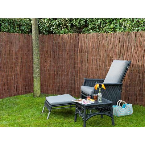 Canisse en osier naturel 2 x 3 m - Nature