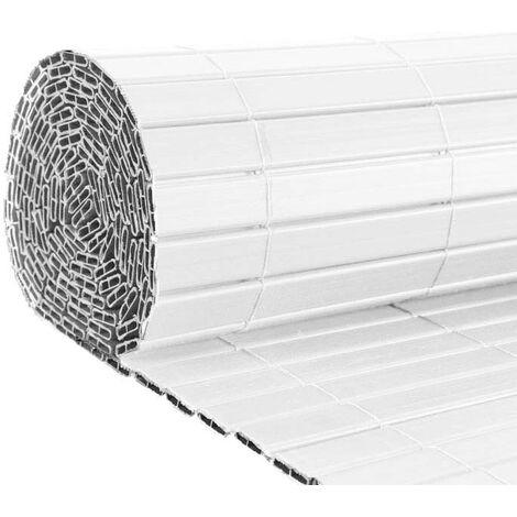 Canisse en PVC blanc double face qualité + 1.20 x 2.5 m - Blanc