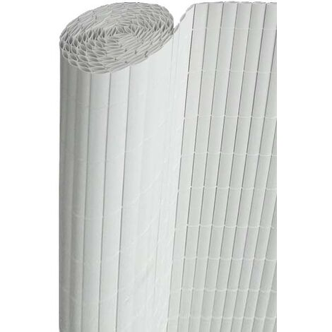 Canisse en PVC blanc double face qualité + 1.80 x 2.5 m - Blanc