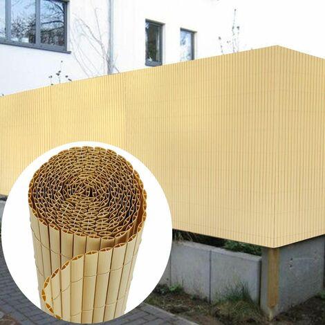 Canisse en PVC Brise Vue 120 x 400 cm, Bambou