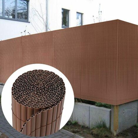 Canisse en PVC Brise Vue résistant 90 x 300 cm, Marron