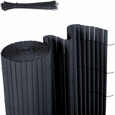 Canisse en PVC Brise Vue résistant 90 x 400 cm, Anthracite
