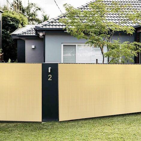 Canisse en PVC Brise Vue résistant 90 x 400 cm, Bambou