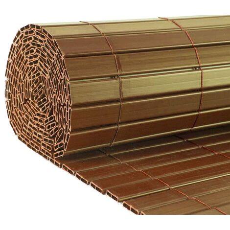 Canisse en PVC effet noyer double face qualité + 1.50 x 2.5 m - Noyer