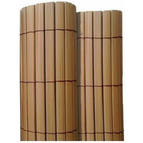 Canisse en PVC effet teck double face qualité + 1.50 x 2.5 m - Teck