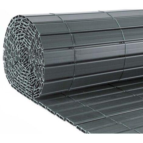 Canisse en PVC gris anthracite double face qualité + 1.20 x 2.5 m - Gris anthracite