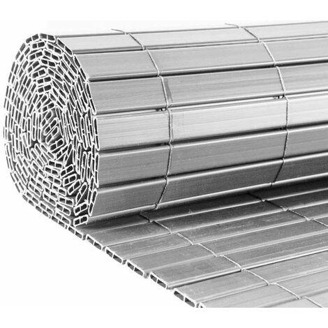 Canisse en PVC gris perle double face qualité + 1.20 x 2.5 m - Gris perle