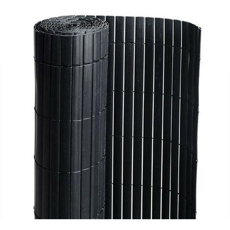 Canisse en PVC noir - 90% d'occultation
