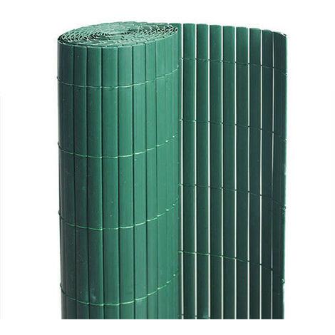 Canisse en PVC vert - 90% d'occultation