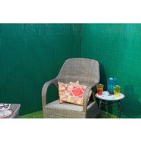 Canisse en PVC vert simple face avec fixations H1,8xL5m