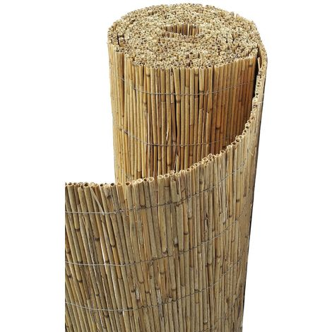 Canisse paillon de bambou non pelé 1,5 x 5 m
