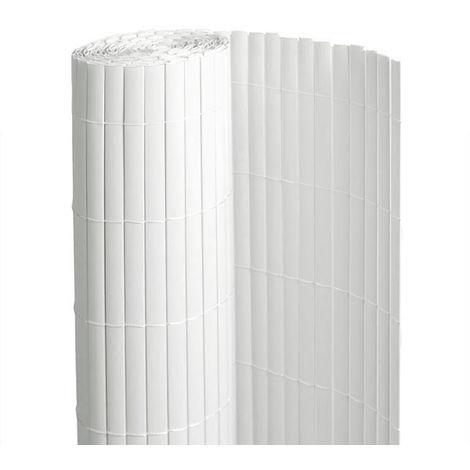 Canisse PVC Blanc Double Face 1 X 3 M