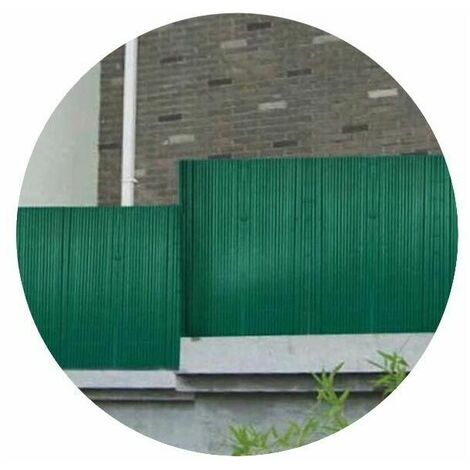 Canisse pvc couleur verte double face 16mm