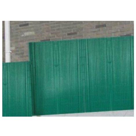 Canisse pvc couleur verte double face 16mm